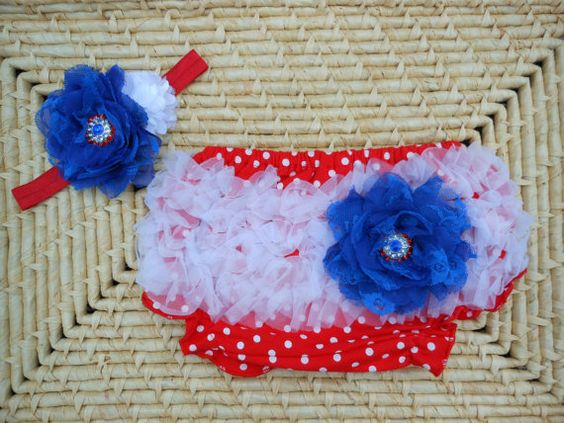 July 4th Bloomer and Headband Set by SomethingBleuShop on Etsy, $20.00