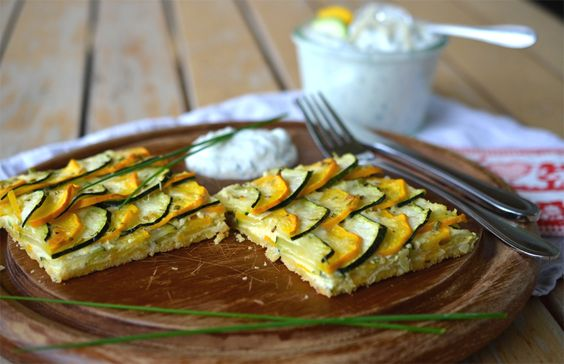 Zucchini-Parmesan Tarte (recipe in German - tell me if you need it translated into English :)