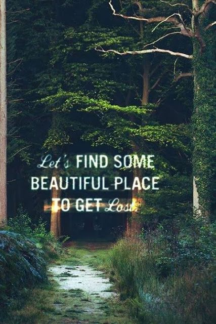 Let's find some beautiful place to get lost | Anonymous ART of Revolution