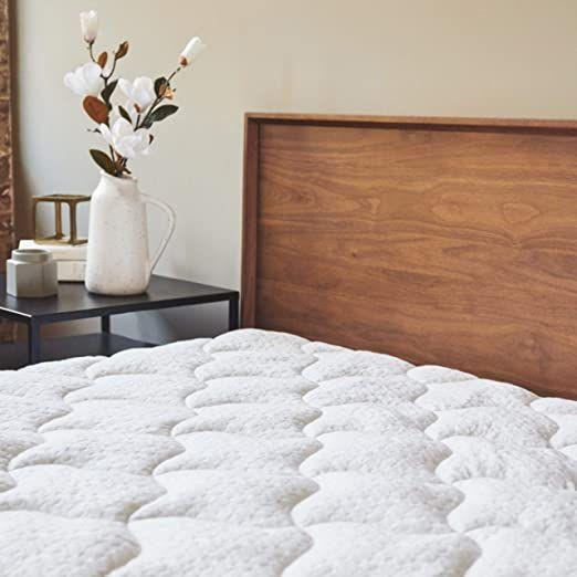 Viscosoft Bamboo Mattress Pad Queen Extra Plush Pillowtop Mattress Topper 18 Rdquo Deep Pockets Bamboo Mattress Mattress Pad Queen Pillow Top Mattress