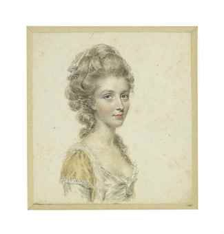 A lady believed to be Lady Sullivan, née Mary Lodge (d. 1832) Pencil and watercolour on card, the reverse inscribed by the artist 'Mrs Sullivan' by John Smart: