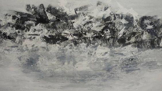 Original Seascape Painting by Doris Duschelbauer | Abstract Expressionism Art on Canvas | La soledad - solitude