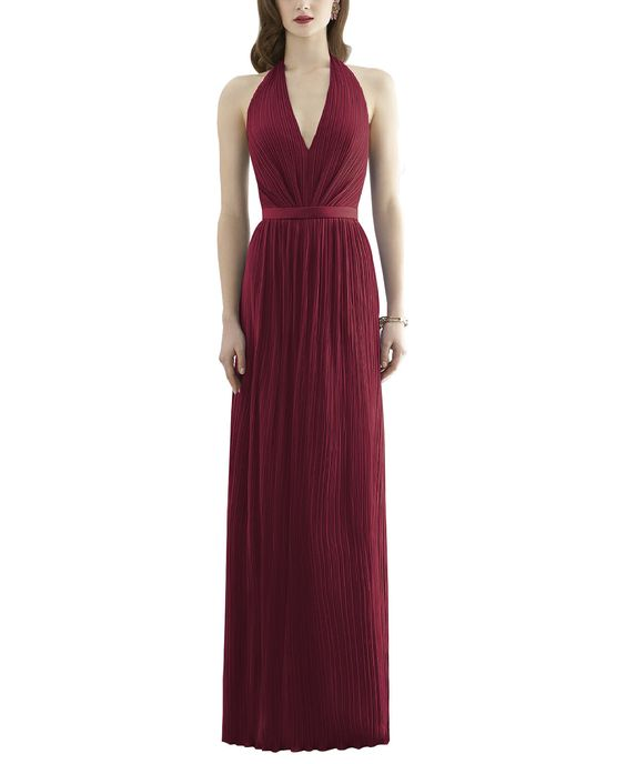 DescriptionDessy Collection 2941Full length bridesmaid dressHalter necklineMatching matte satin 1