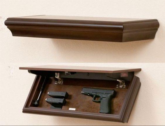 Armes meubles fabriquer soi m me and meubles on pinterest for Meuble avec cachette