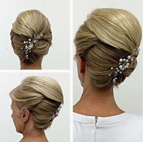 Harika Gelin Annesi Saci Fikirleri Ve Stilleri Mother Of The Groom Hairstyles Bride Updo Mother Of The Bride Hair