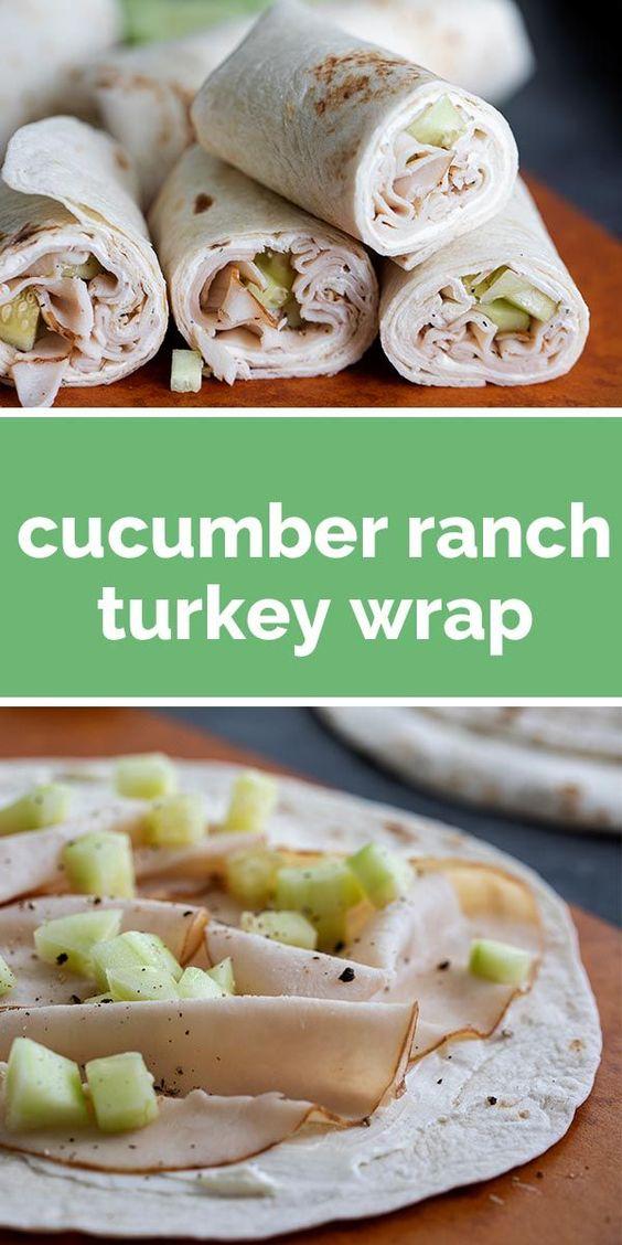 Cucumber Ranch Turkey Wrap