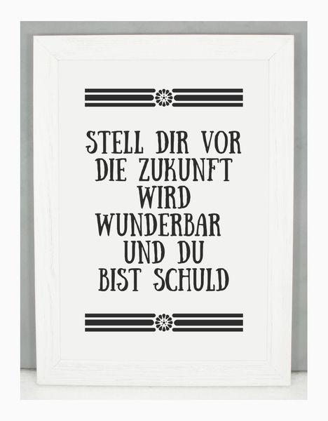 'STELL DIR VOR' Kunstdruck / Einsaushundert von Einsaushundert auf DaWanda.com: