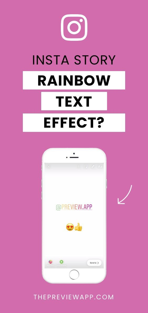 How To Do A Rainbow Ombre Text Effect On Insta Story Instagram Marketing Tips Rainbow Writing Effective Instagram Marketing