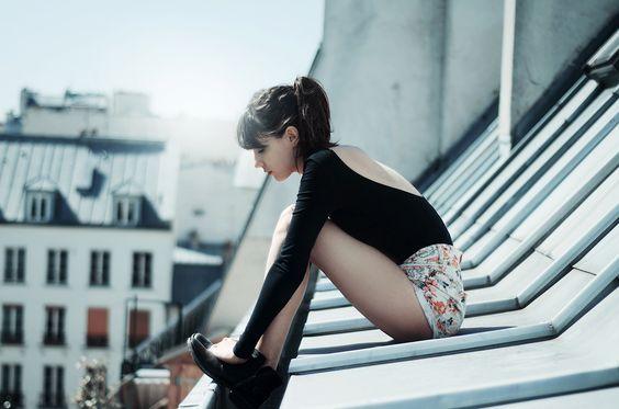 Toit de paris. Paris's roof. Model, girl. Photographe https://www.facebook.com/pages/Sarah-Miguet-Cadet/329547320493218
