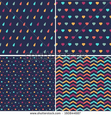 Set of cute geometric pattern by Aigul Igembayeva, via Shutterstock