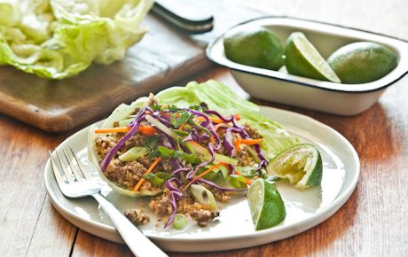 Organic Grass Fed Beef and Couscous Lettuce Wrap