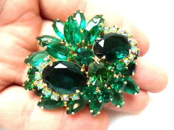 FLAWLESS STUNNING VINTAGE VERIFIED JULIANA D&E RHINESTONE BROOCH MINT!!! G6165