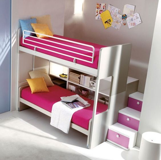 Lit superpos pour enfant fille 306 doimo cityline http for Photo de lit pour fille