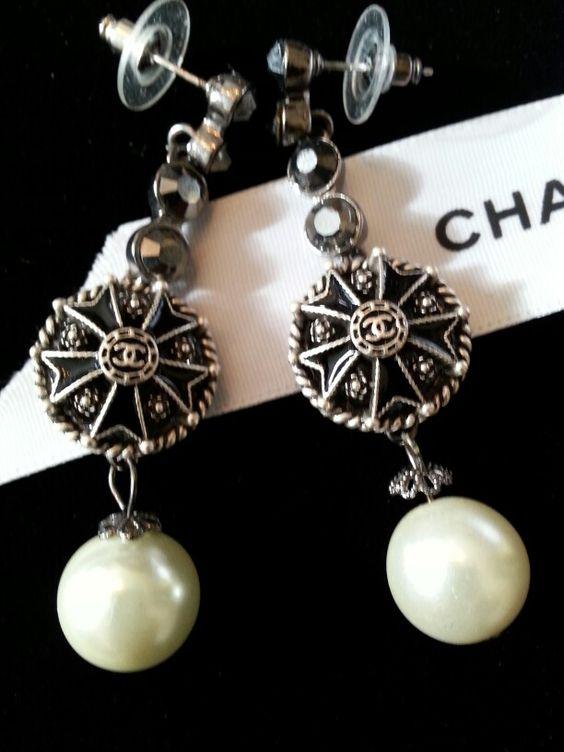 Chanel Button Earrings Designsbyz contact zumphlette@aol. com