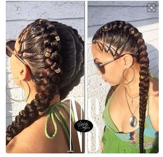 Dutch Braids Are Classic, Protective And These 9 Women Are Rocking Them Beautifully [Gallery] - Black Hair Information