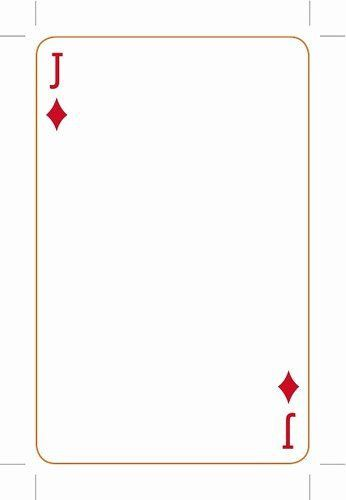 Blank Playing Card Template In 2021 Blank Playing Cards Printable Playing Cards Custom Playing Cards