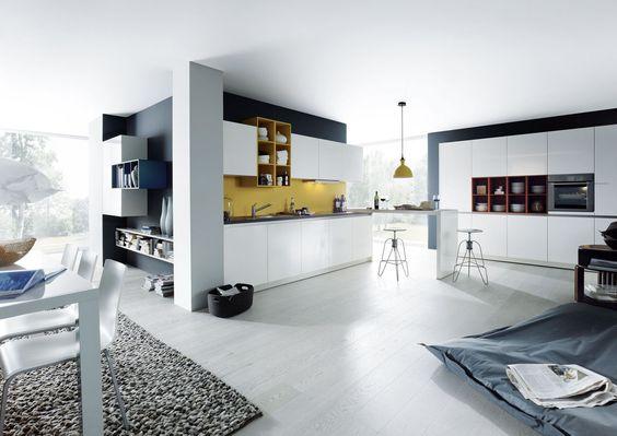 Brilliant white high gloss kitchen. #whitekitchen #modernkitchen www.schmidkitchens.co.uk