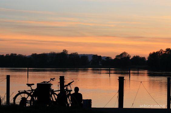 Sonnenuntergang am Seerhein