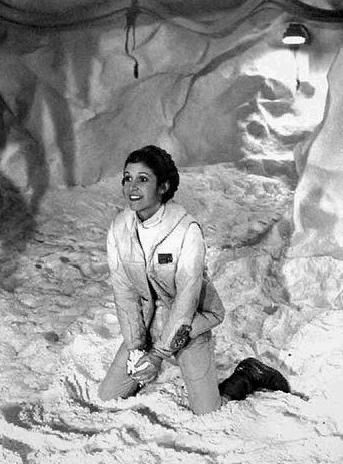 There are times when I think Carrie Fisher's out of character shots fit Leia better than how she is on film.