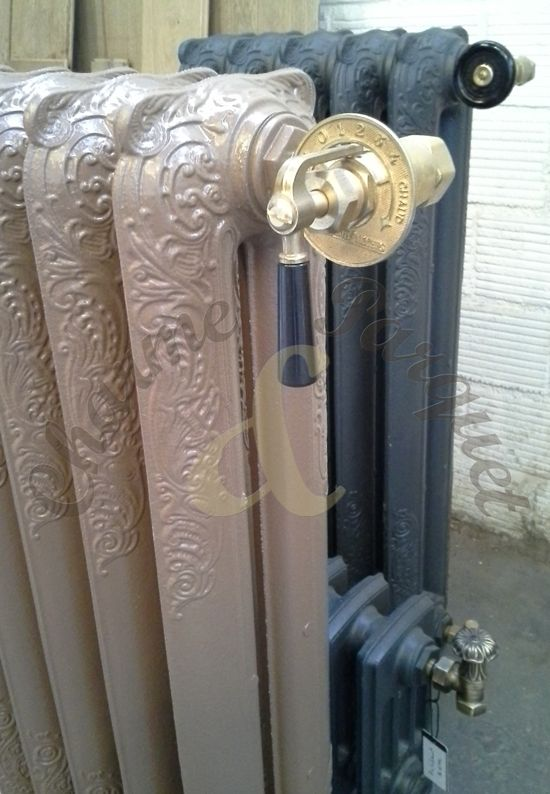 Kit robinet bakélite version chromé  Robinet radiateur fonte