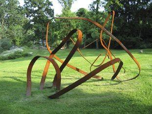 Grace Knowlton Steel Twist Sculpture