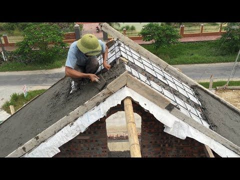 Construction Sloping Roof Concrete Easy Pour Concrete Step By Step Buiding Skills Youtube Concrete Sheds Concrete Steps Poured Concrete