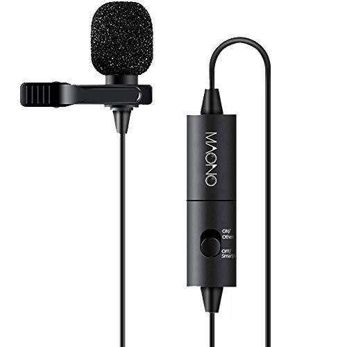 PC Professional Tie Clip Lapel Lavalier Microphone for Digital Recorder Laptop