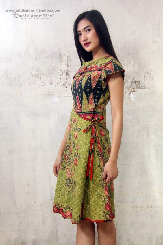 Rina wrdnfashionindo batik and more indonesia batik dress d dresses