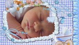 Tarjetas de nacimiento para imprimir con foto (nene)
