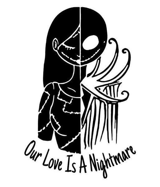 She Was An Ocean And He Was Just A Sinking Man Lost In Her Wa Nightmare Before Christmas Tattoo Nightmare Before Christmas Drawings Nightmare Before Christmas