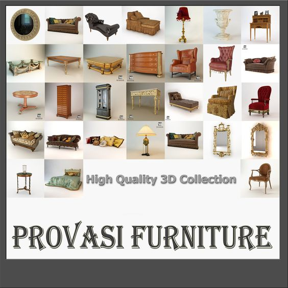 3D max provasi collection furniture