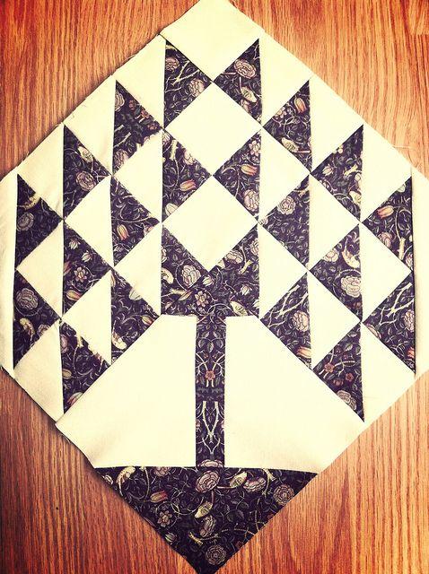 Tree+of+Life+Quilt | William Morris Tree of Life Quilt Block