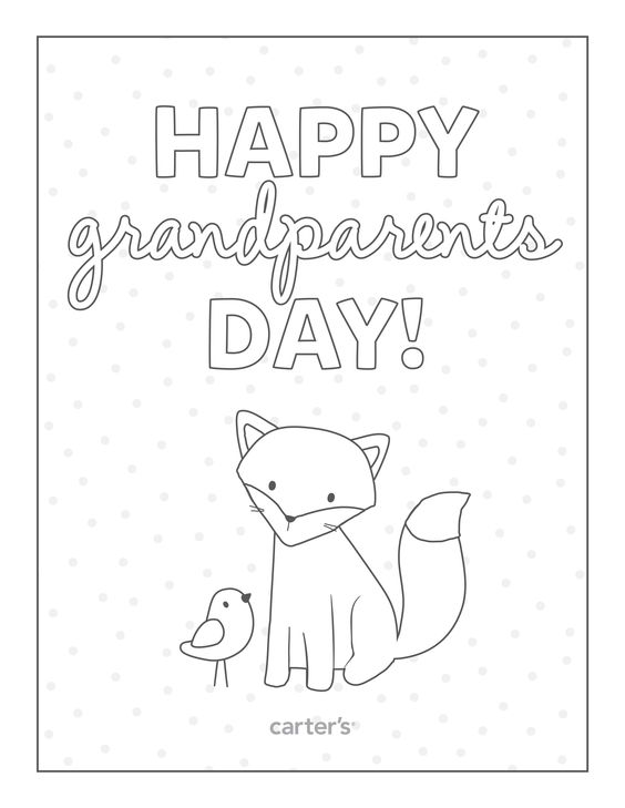 Zany image within grandparents day printable coloring pages