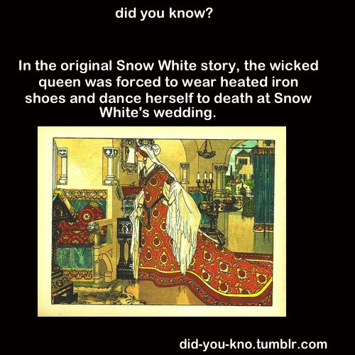 in the original snow white story the was