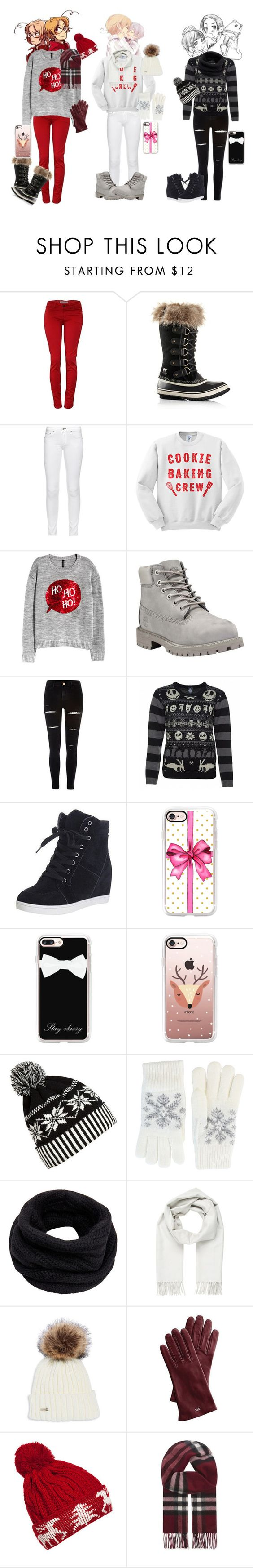 """""""CHRISTMAS HETALIA SHIPS!"""" by rarelee on Polyvore featuring SOREL, rag & bone, H&M, Timberland, River Island, Casetify, WithChic, Fits, Helmut Lang and Brioni"""