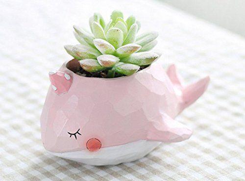 UK Dog Animal Resin Succulent Plant Flower Pot Planter Garden Office Desk Decor