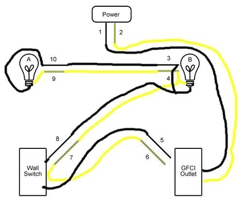 Image Result For Wiring Outlets And Lights On Same Circuit Outlets Lights Circuit