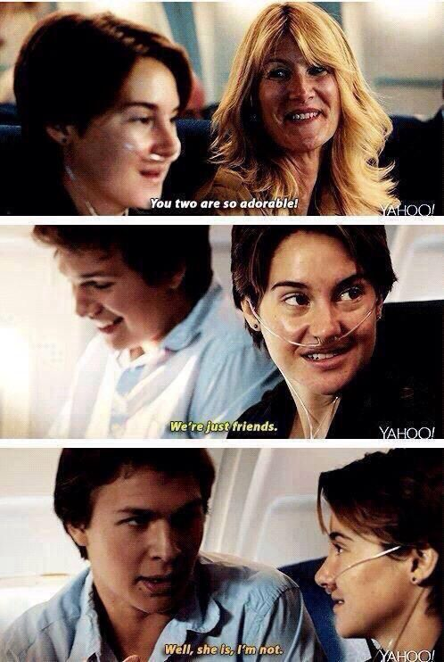 Augustus Waters + Hazel Grace Lancaster = PERFECTION.: