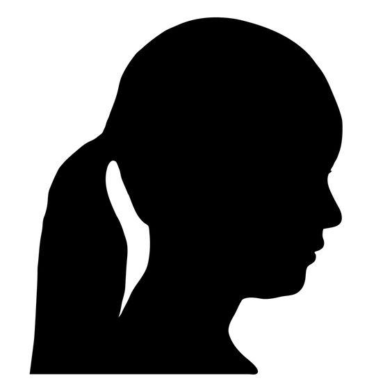 Woman Side Profile Face Silhouette | tethered_Emma ...