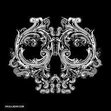 skull, on black shirt created with a bleach pen