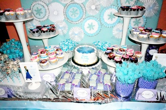 Frozen Dessert Table Including Delicious Olaf Cake Pops Marshmallow