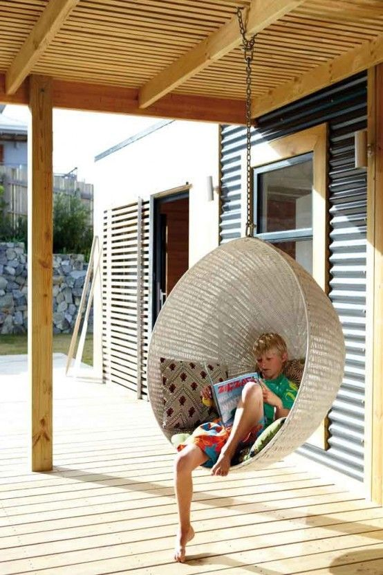 Hanging chair - perfect for the patio.