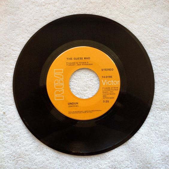 The Guess Who Vinyl Record 45 Rpm Undun Laughing 1960s