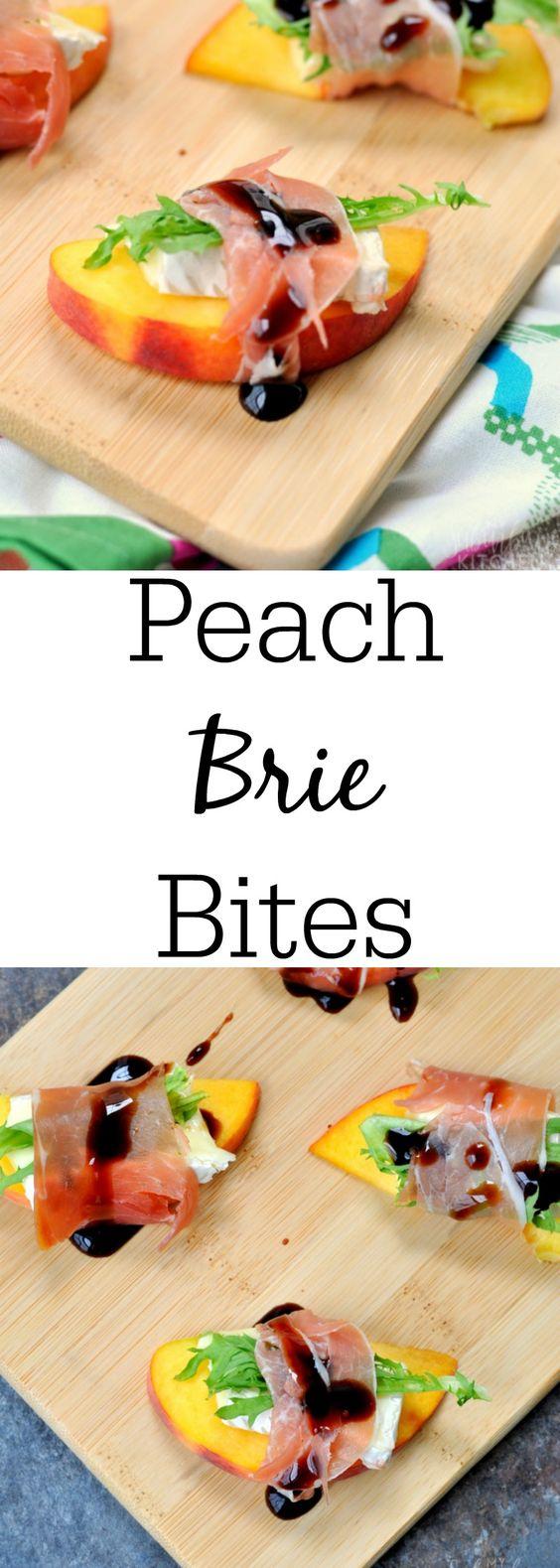 Peach Brie Bites   Recipe   Brie Bites, Brie and Peaches