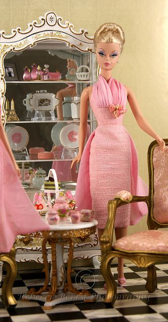 Tea time with Barbie!