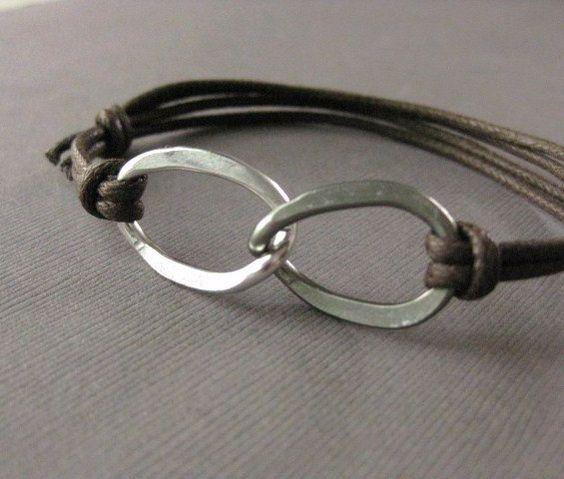 Men's Bracelet Hammered Aluminum Infinity by InformalElegance, $22.50