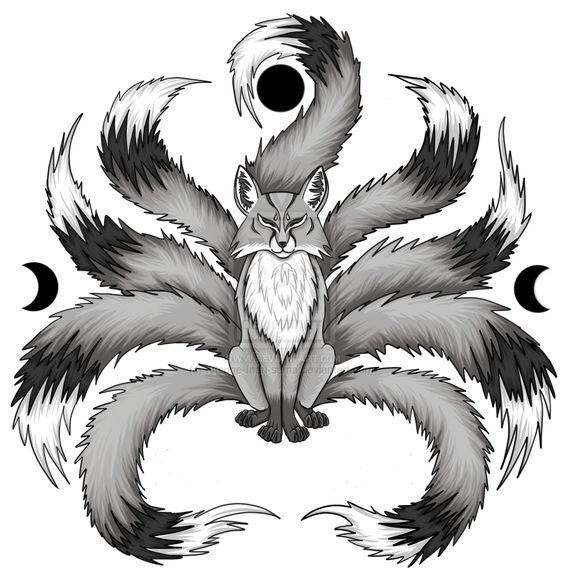 Anime White Kitsune Kitsune Drawing | Whit...