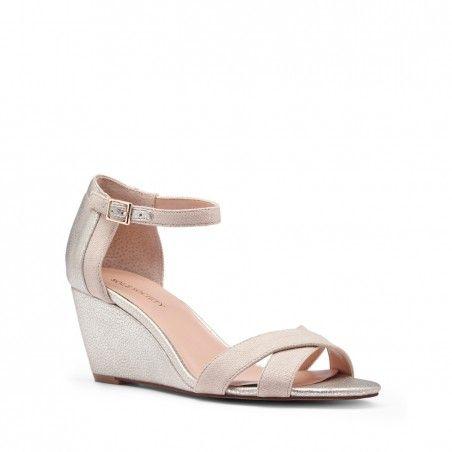 Women's Frappe White 2 1/2 Inch Mini Wedge Sandal   Melena by Sole ...