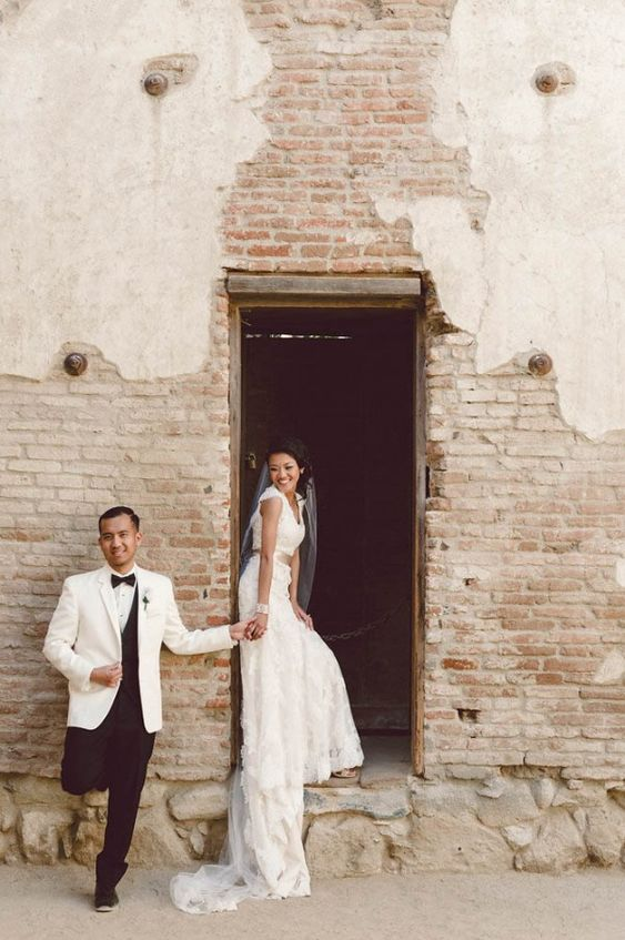 Maggie Bride Joanne wore Bronwyn by Maggie Sottero at her Classy Gold and Emerald Wedding in San Juan Capistrano | II Mare Photography
