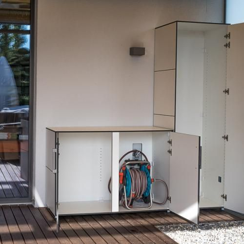 Wetterfester Gartenschrank Fur Terrasse Oder Balkon Gartenschrank Balkonschrank Schrank